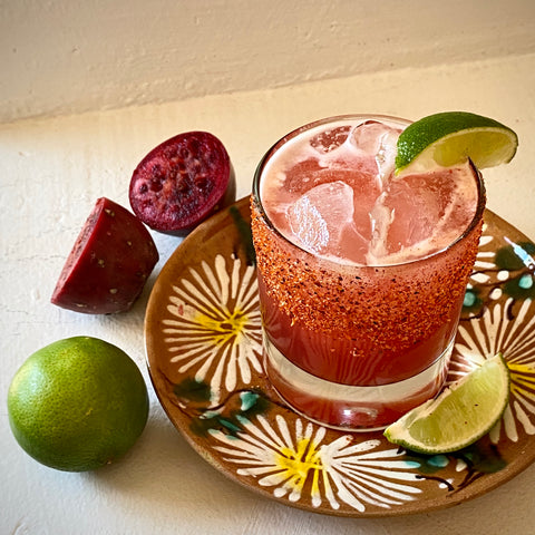 Spicy N/A Margarita with pineapple and prickly pear