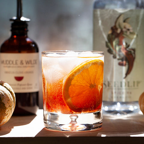 Red Orange & Seedlip Spice Non Alcoholic cocktail