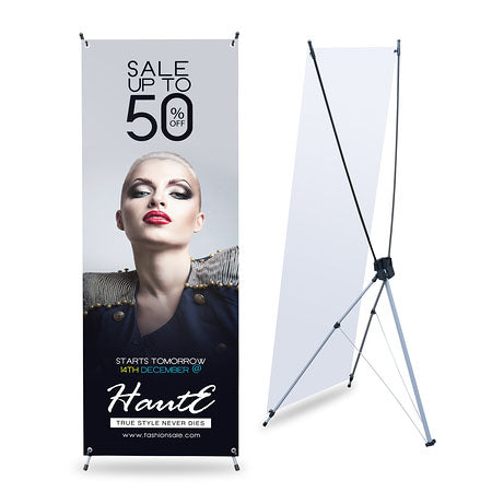 X Banner Stand With Print 32