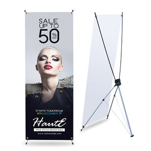 "X Banner Stand With Print 32"" x 71"" - Nine Sign"