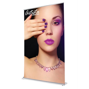 "Elite Retractable Banner Stands With Print 60"" X 92"" - Nine Sign"