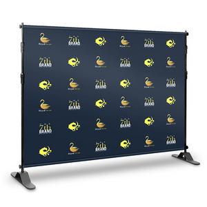 Step and Repeat Backdrop With Print 10' x 8' - Nine Sign