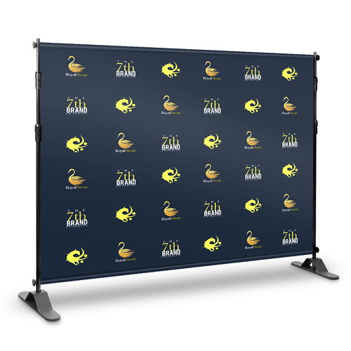 Step and Repeat Backdrop With Print 9' x 8' - Nine Sign