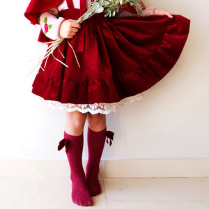 Mdina Skirt in Red Velvet