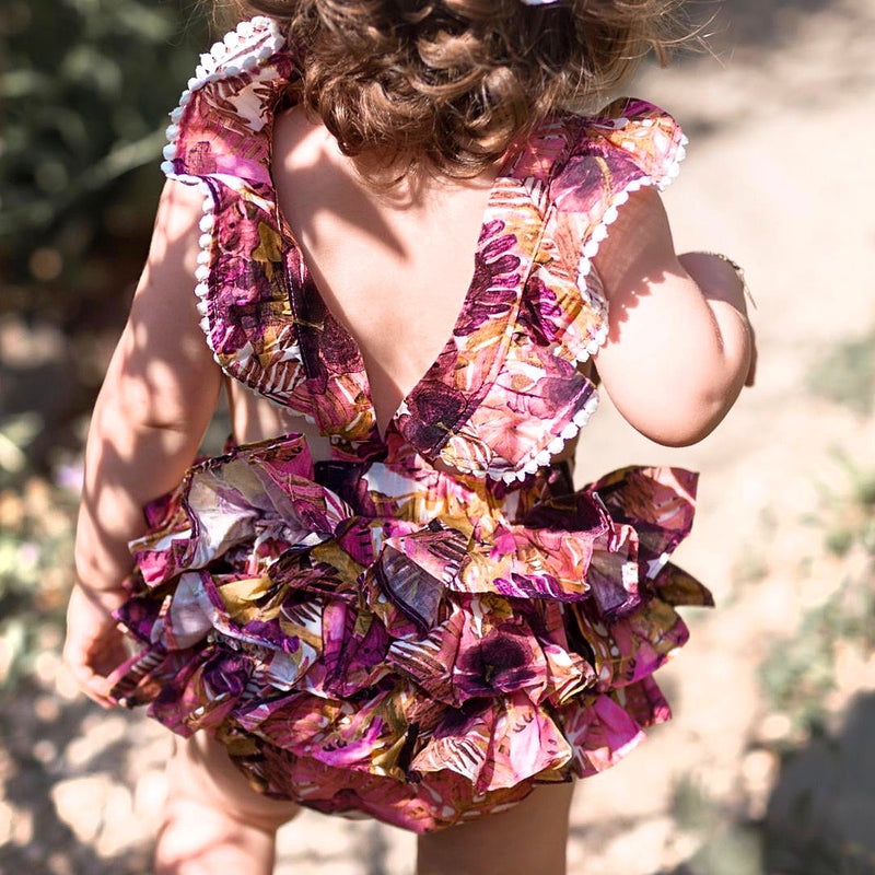 Romper in Tropical Floral