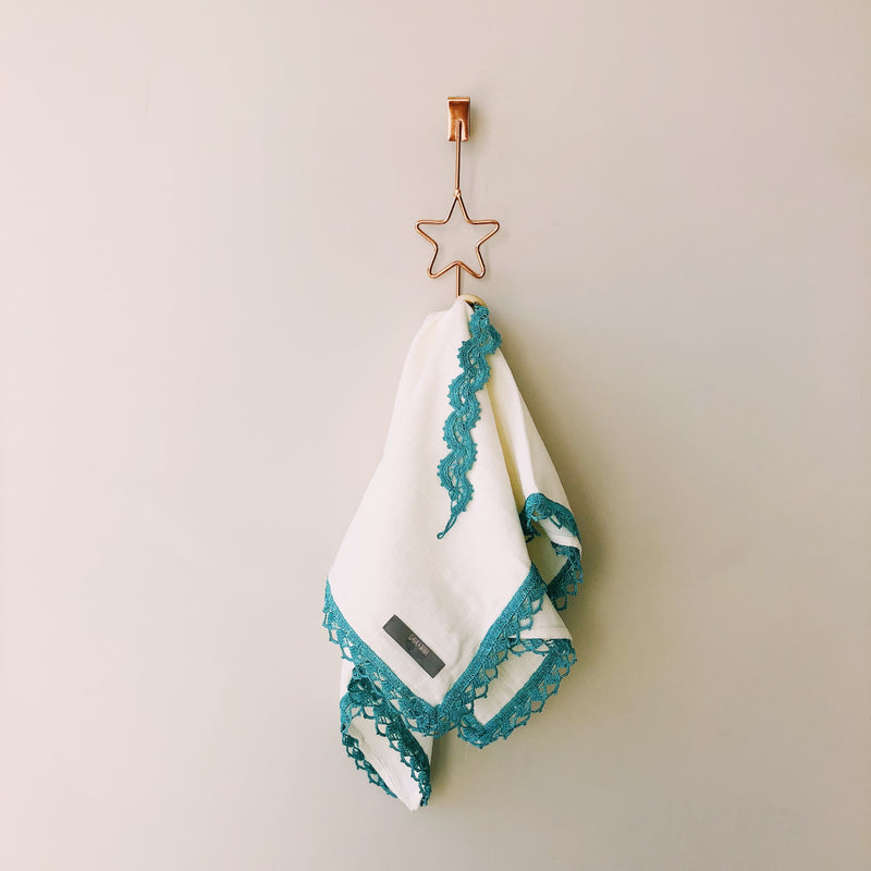 Hand Crocheted Muslin Cloth in Turquoise