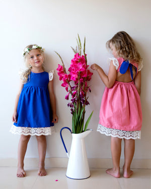 Sicily Reversible Royal Blue Vs Candy Floss Pink