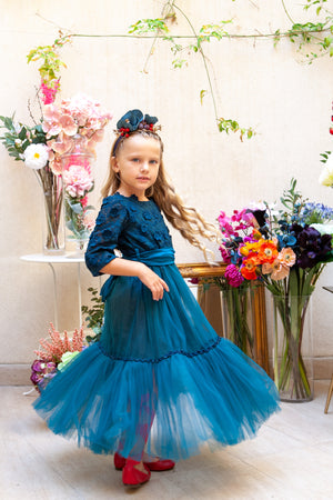 Venezia Dress in Teal