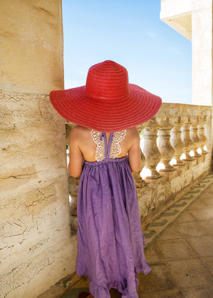 Seville Embroidery Dress in Lavender