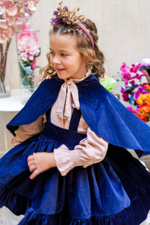 Mdina Cape in Blue Velvet