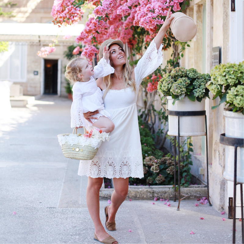 Parisienne Off-Shoulder Mama Dress in Vanille