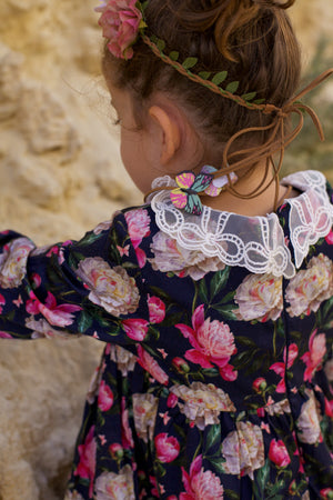 Cittadella Dress in Winter Floral and Butterfly Print