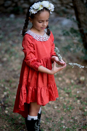 Cittadella Dress in Burnt Orange
