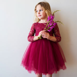 Malta Tutu Dress in Magenta