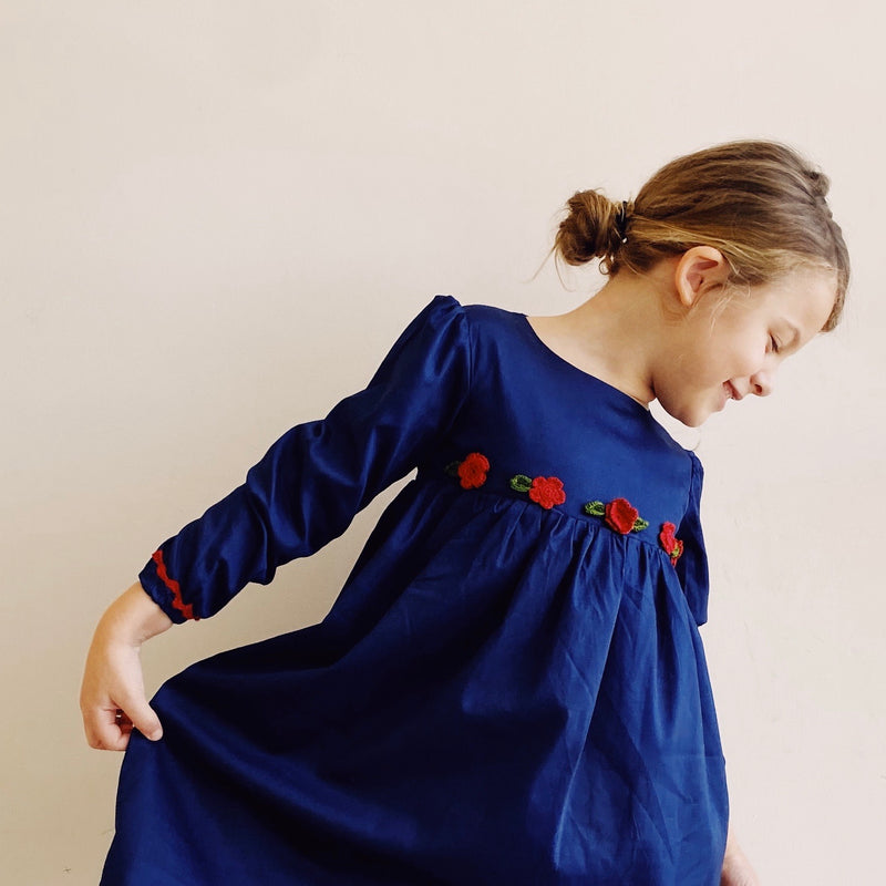 Mdina Dress in Navy