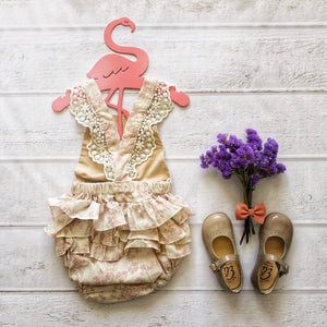 Romper in Vintage Blush Floral