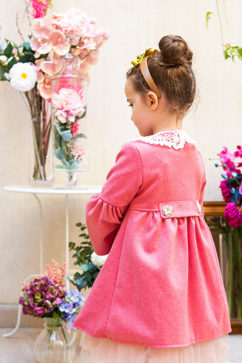 Siena Coat in Fuchsia Pink