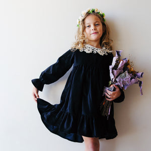 Cittadella Dress in Black Velvet