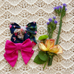 Winter Floral Hair clip - Handmade with love