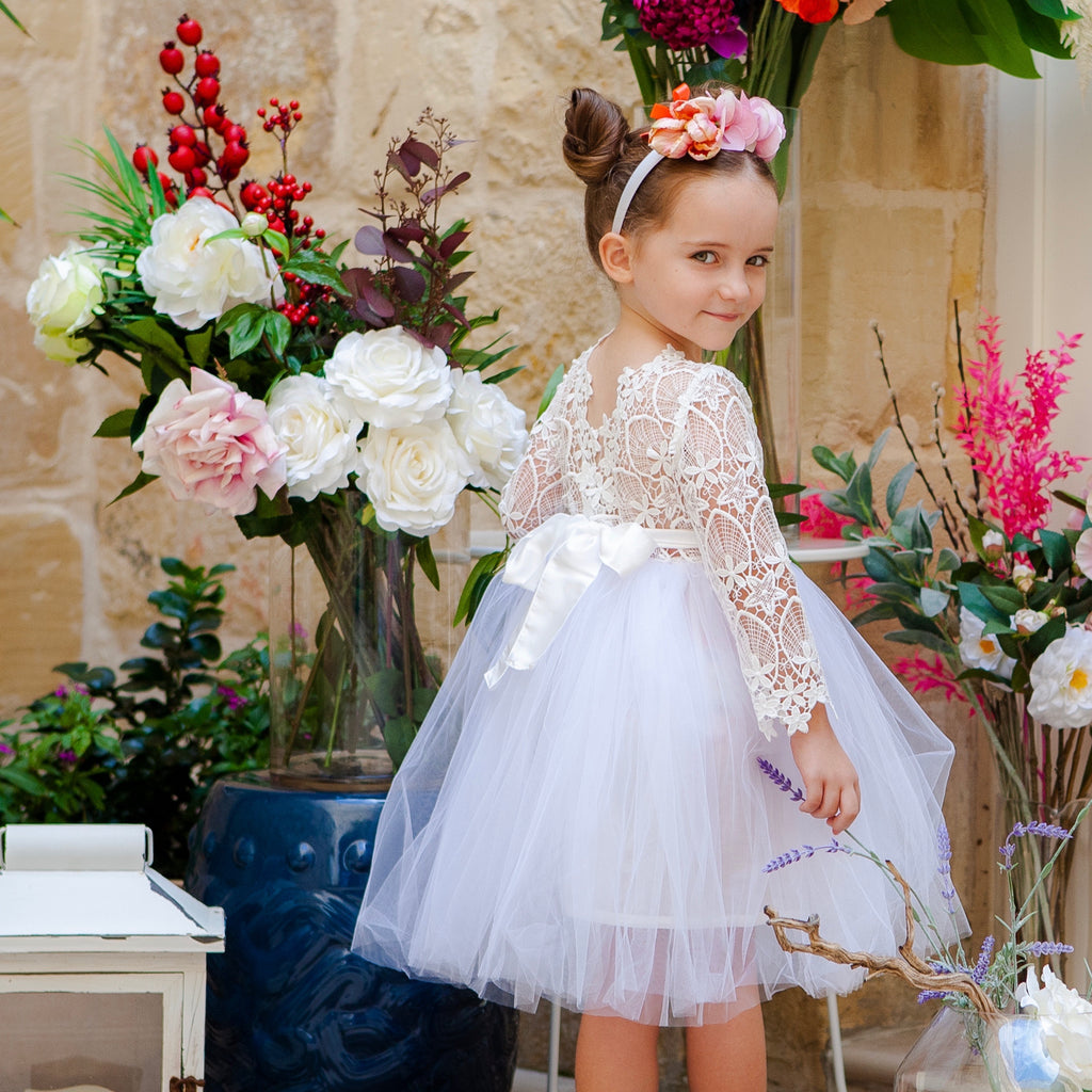 Malta Tutu Dress in White