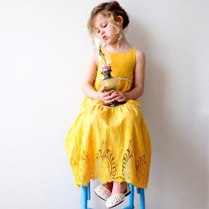 Amalfi Dress in Sunshine Yellow