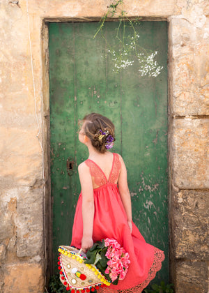 Gozo Dress in Coral