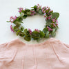 Lipari Reversible Top: In Vintage Blush Floral & Blush