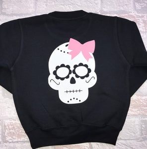 Pink Rebel Skull Sweater