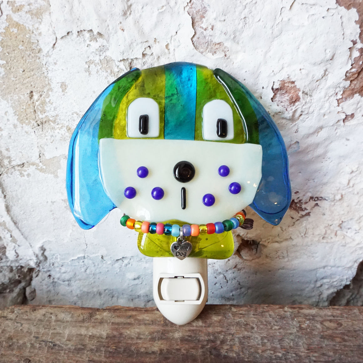 Glass Dog Nightlight