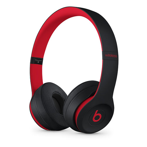 Beats Solo3 Wireless On-Ear Headphones - Defiant Black-Red
