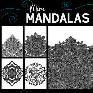 Mini Mandalas Colouring Book