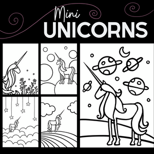 Mini Unicorns Colouring Book