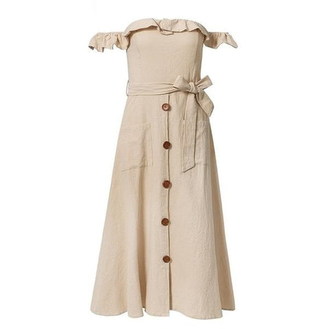Bardot Summer Dress - ALIA MAXINE