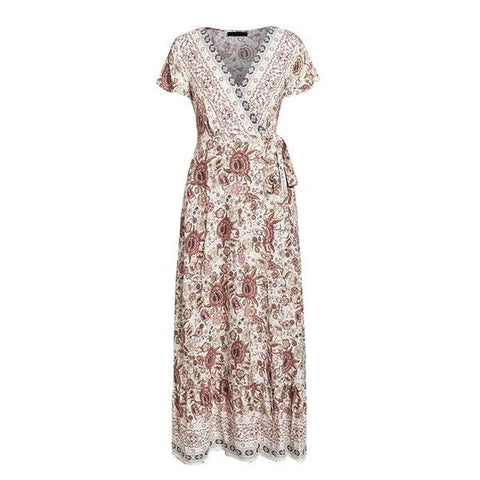 Boho Gypsy Maxi Dress - ALIA MAXINE