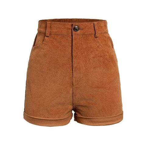 Brown Corduroy Shorts - ALIA MAXINE