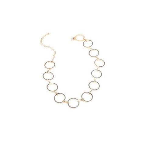 Circle Link Necklace - ALIA MAXINE