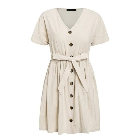Cotton Linen Dress - ALIA MAXINE