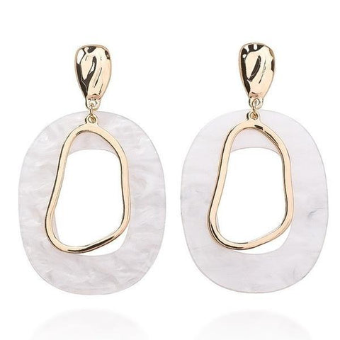 Geometric Dangle Earrings - ALIA MAXINE