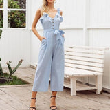 Light Blue Jumpsuit - ALIA MAXINE