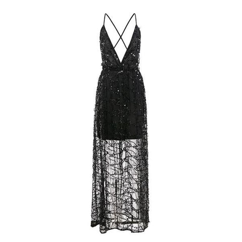 Sequin Overlay Dress - ALIA MAXINE