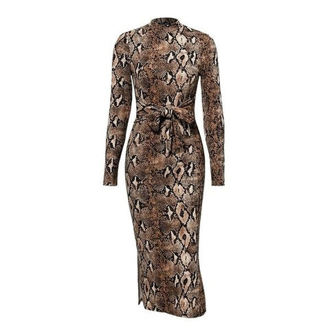 Snakeskin Bodycon Dress - ALIA MAXINE