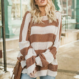 Horizontal Striped Sweater - ALIA MAXINE