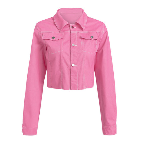 Pink Denim Jacket - ALIA MAXINE