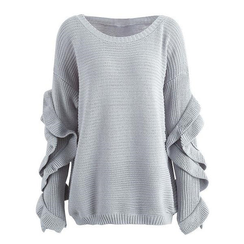 Ruffle Sleeve Sweater - ALIA MAXINE