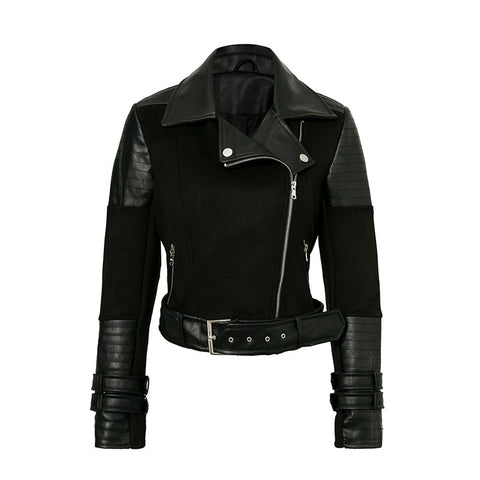 Cropped Faux Leather Jacket - ALIA MAXINE