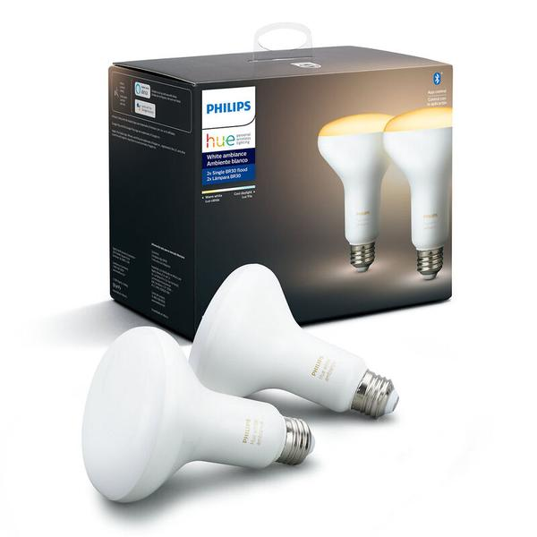 Philips Hue White Ambiance BR30 2-Pack