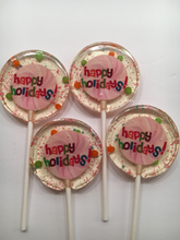 Load image into Gallery viewer, 6 Happy Holiday/Thank You Lollipops