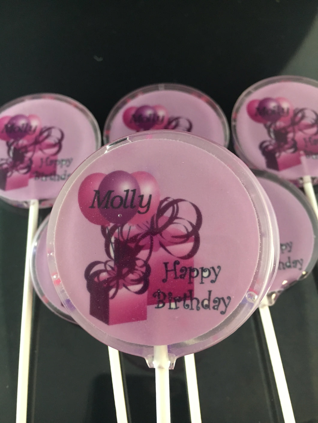 1-       6 Personalized Hard Candy Lollipop