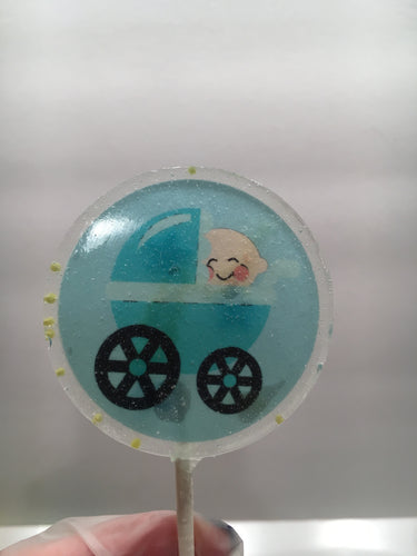 6 Baby Boy Personalized Lollipops