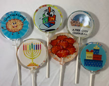 Load image into Gallery viewer, 6 Chanukah Lollipops